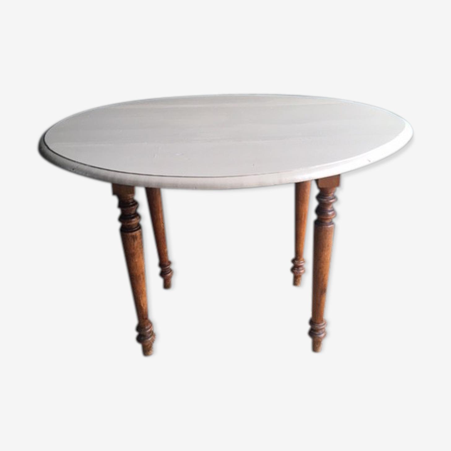 Oval old farm table