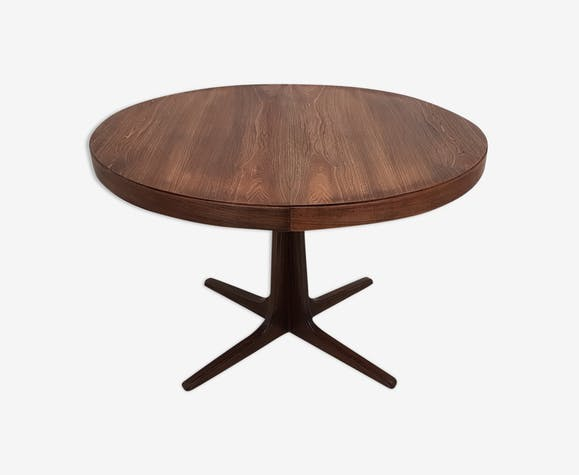Table Ronde Scandinave Extensible.Table Ronde Vintage Scandinave Extensible Danoise Sur Pied