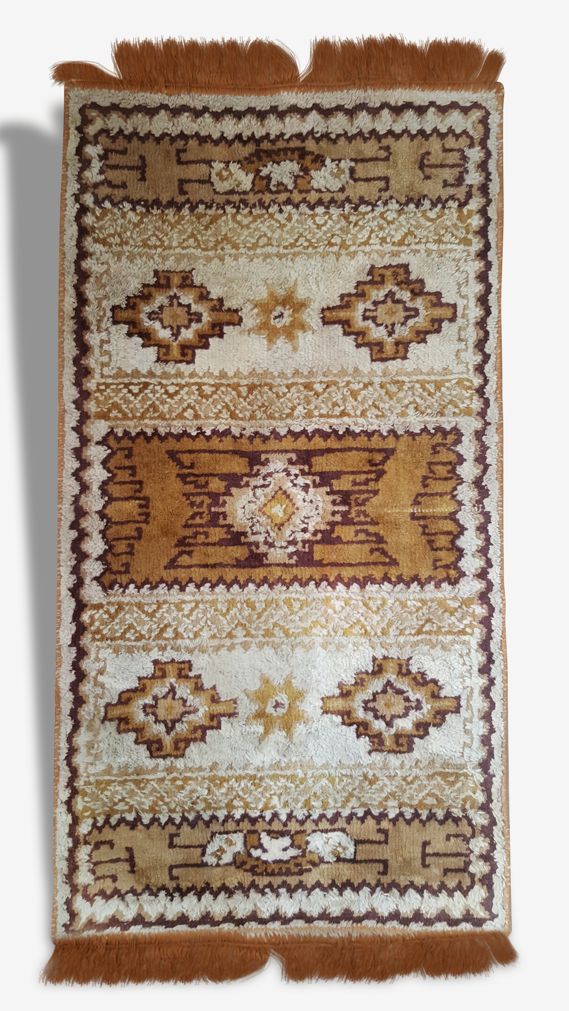 Tapis laine vintage, 122x60