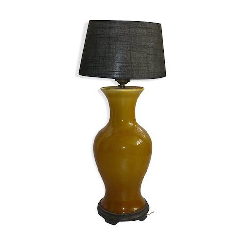 Lampe céramique vintage craquelé