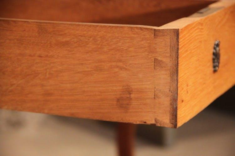 Bureau plat chêne Louis XV