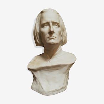 Buste en biscuit Liszt par Nannini