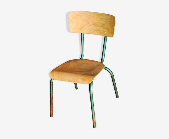 Chaise Ecolier Enfant Vintage Annees 50