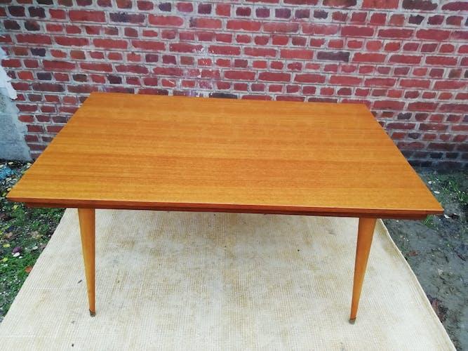 60s varnished teak table