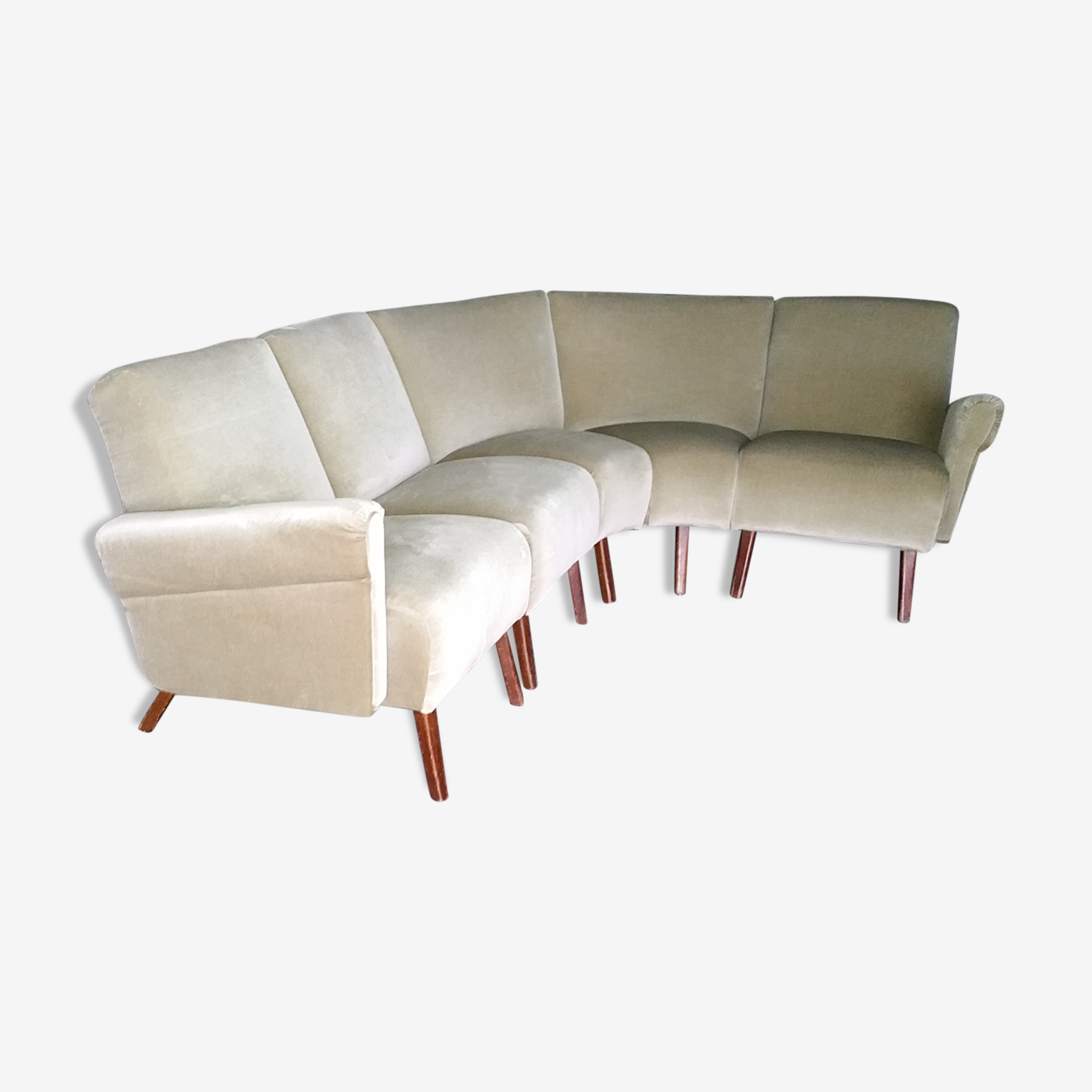 Canapé d'angle modulable 5 places années 50-60