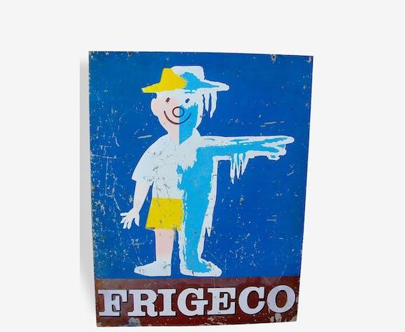 Ancienne tôle publicitaire FRIGECO par Raymond Savignac