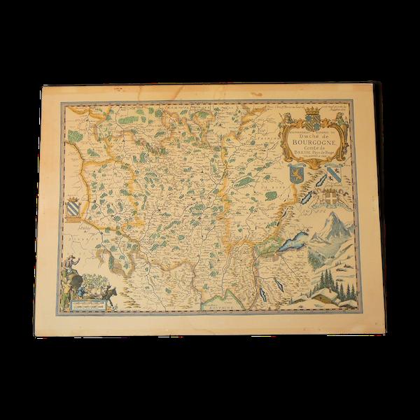 Carte du duché de bourgogne Daniel Derveaux