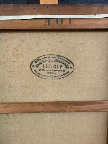 Huile sur toile la boite a bijoux et le bouquet daté 1936 J Cartier XXeme