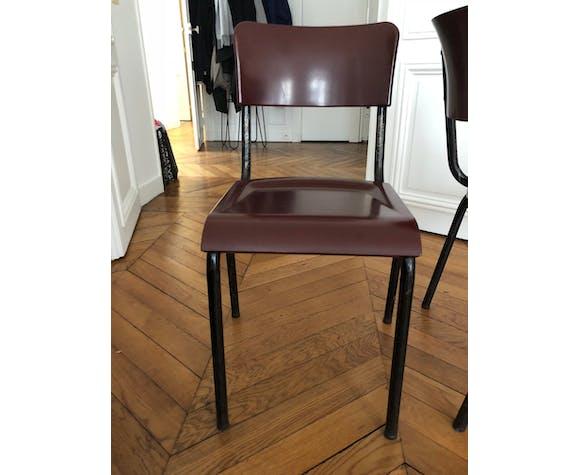 6 chaises vintage années 40/50
