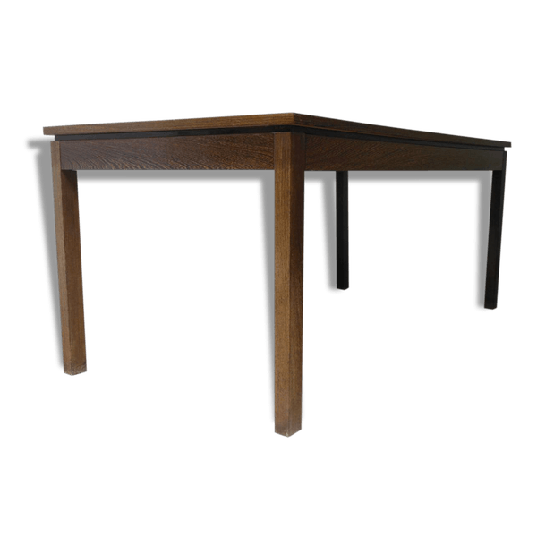 table manger moderniste bois de palme ann es 50 bois mat riau marron vintage 25184. Black Bedroom Furniture Sets. Home Design Ideas