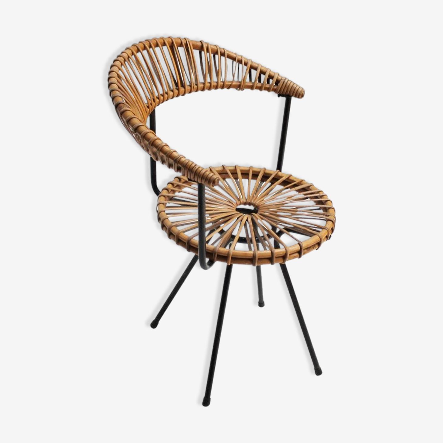 Chaise en rotin par Dirk Van Sliedregt pour Rohe Holland