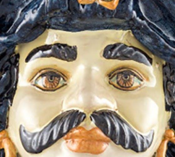 Vase turban bleu homme