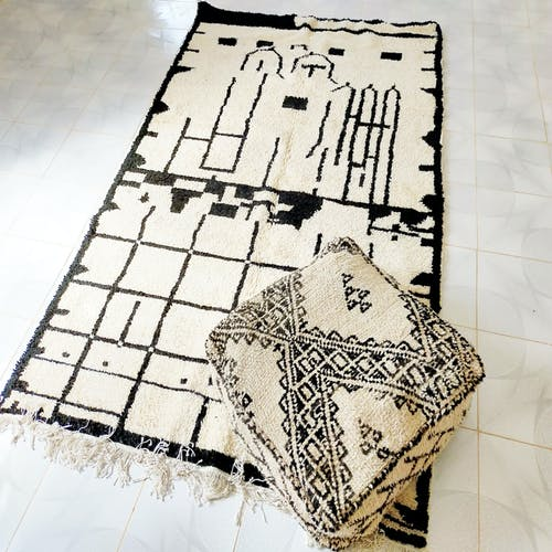 Tapis berbere azilal fait à la main 150x257cm