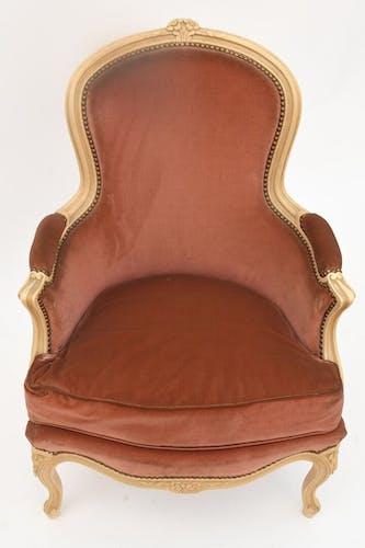 Fauteuil bergère de style Louis XV