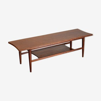 Midcentury Richard Hornby for heal's two-tier teak coffee table