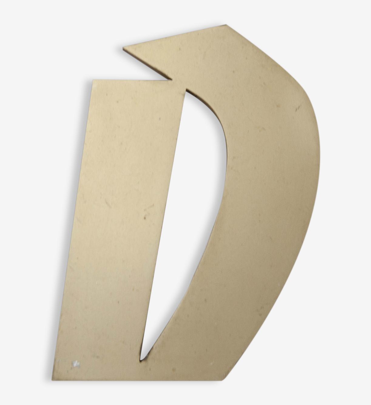 Lettre d'enseigne D hauteur 15.5cm