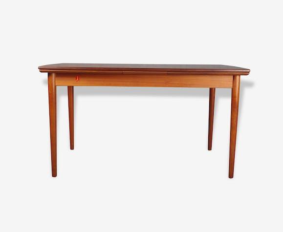 table extensible scandinave samcom en teck teck bois. Black Bedroom Furniture Sets. Home Design Ideas