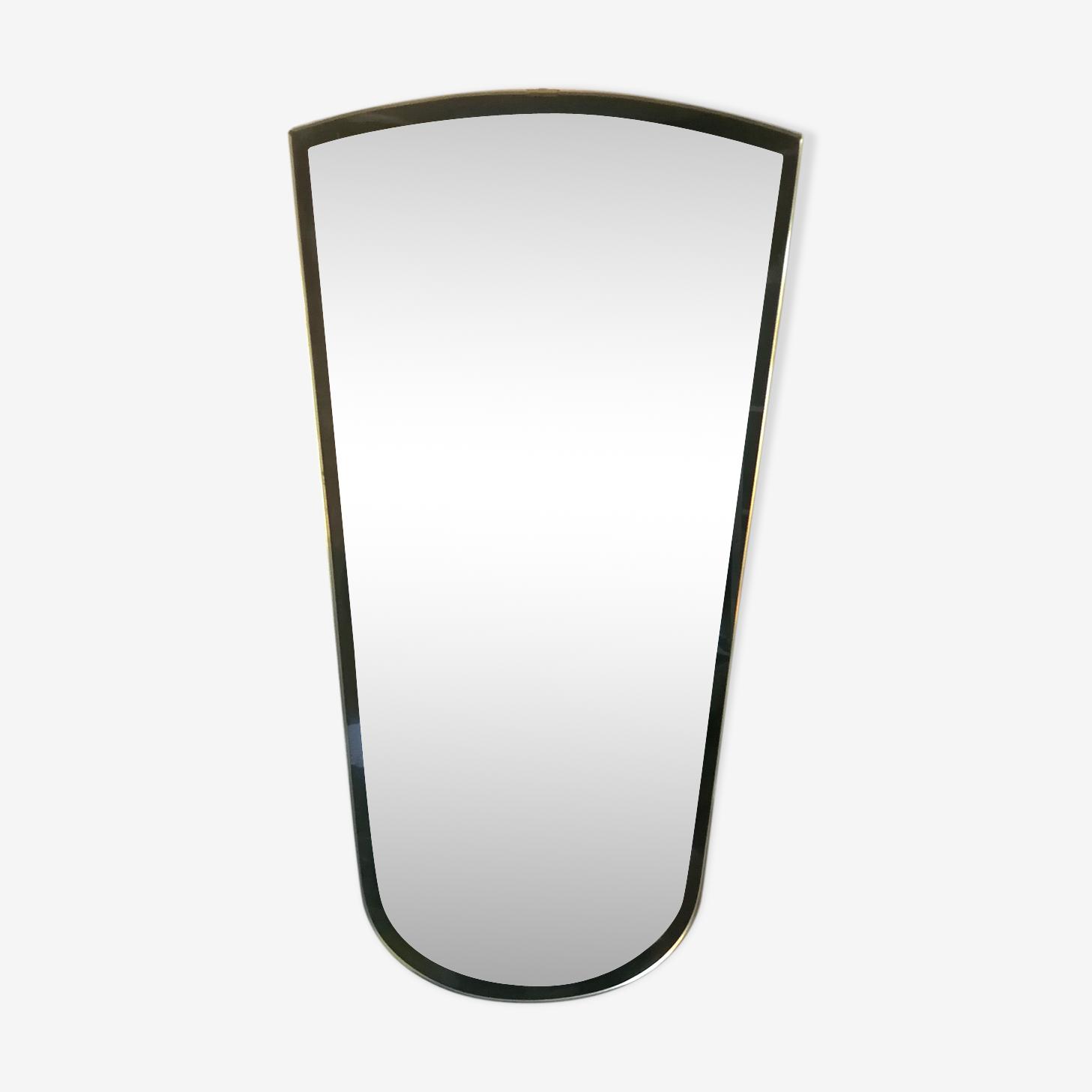 Miroir rétroviseur années 50 - 36x68cm