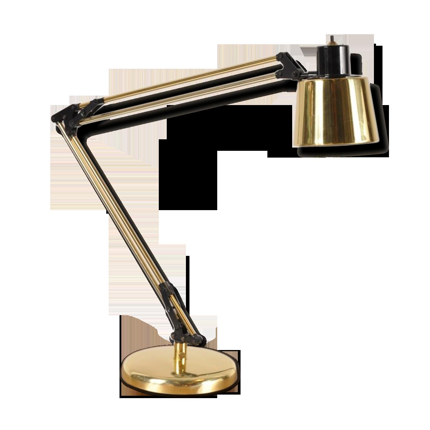 Lampe de bureau en laiton des années laiton doré