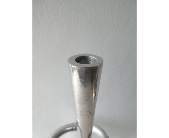 Cast aluminum in the 1970s large candlestick