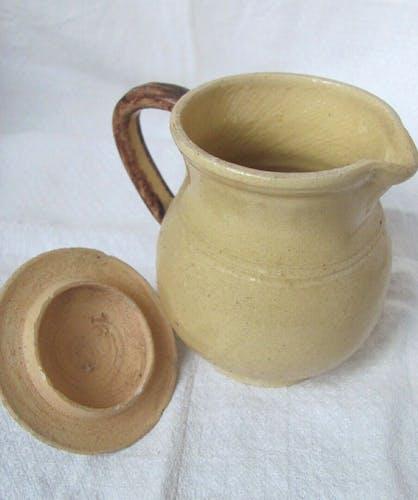 Pot à lait terre vernissée - XIXème