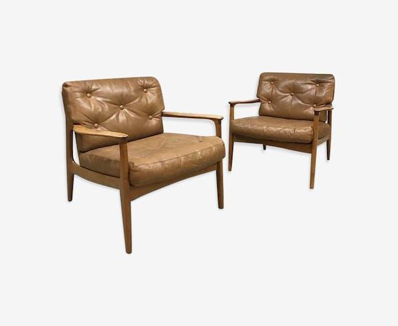 Fauteuils lounge design vintage Eugen Schmidt Soloform