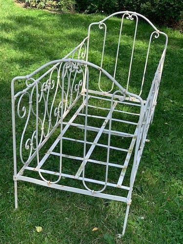 Child bench in ideal wrought iron garden
