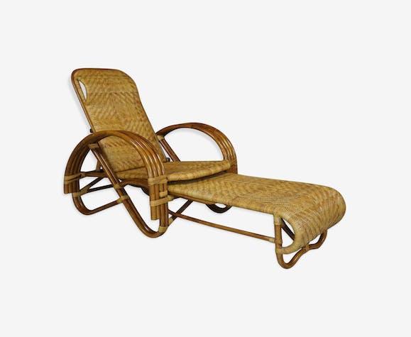 bain de soleil en rotin design paul frankl rotin et osier bois couleur vintage mvllgme. Black Bedroom Furniture Sets. Home Design Ideas