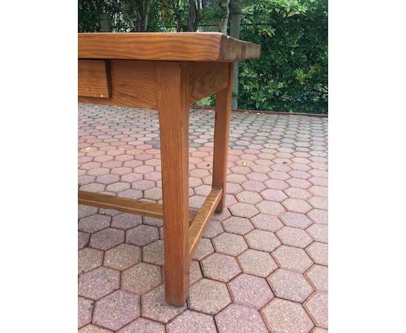 Oak farm table - 50s
