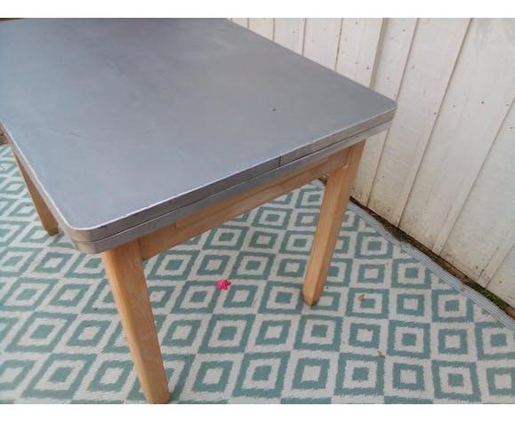 Table mado années 50 béton ciré à rallonges