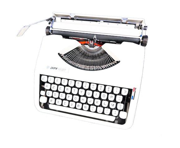 Machine à écrire Japy Baby Hermes Beige vintage révisée ruban neuf