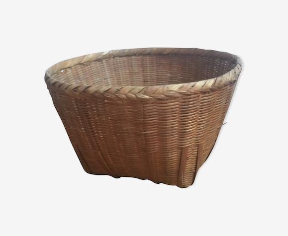 Cache pot en bambou et rotin