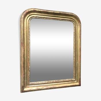 Miroir Louis-Philippe doré 60x48 cm