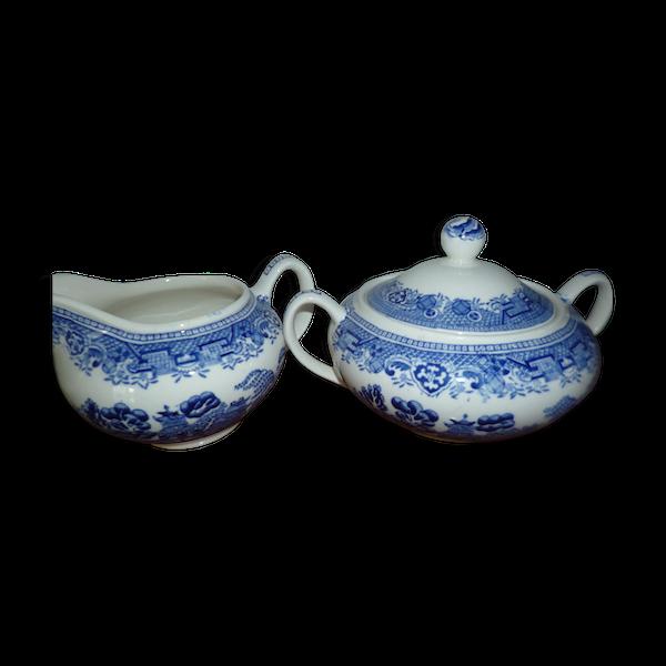 Lot de porcelaine bleue anglaise willow