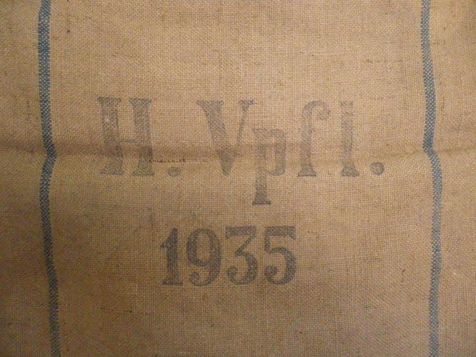 Sac à ravitaillement  - H.Vpfl. 1935 avec aigle national au verso pièce de collection Allemagne