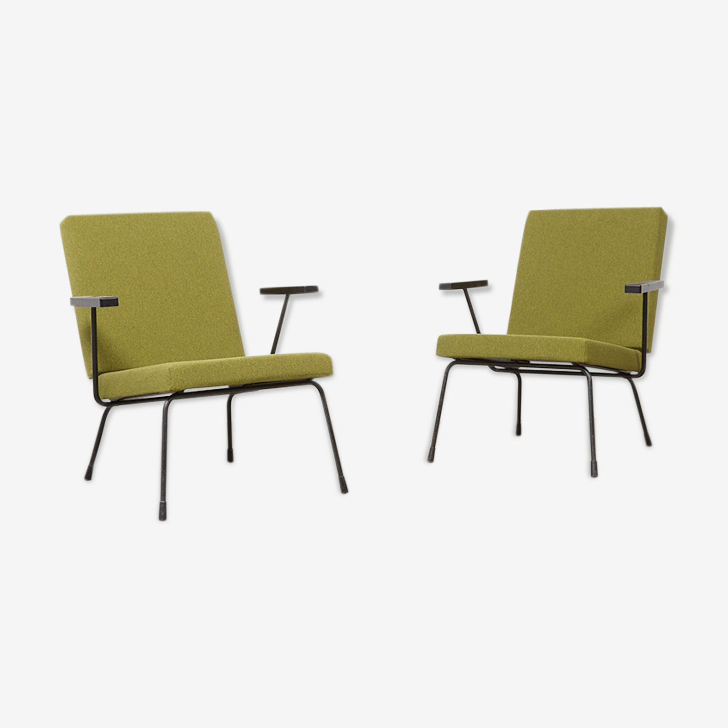 Pair of chairs gispen 1407, by Wim Rietveld in 1954