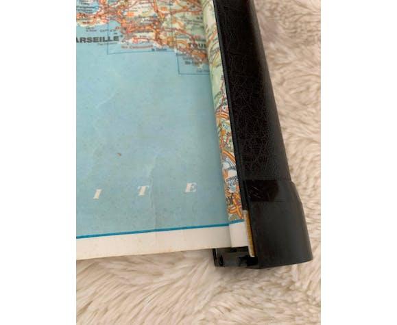 Carte routière vintage Geomatic a enrouleur