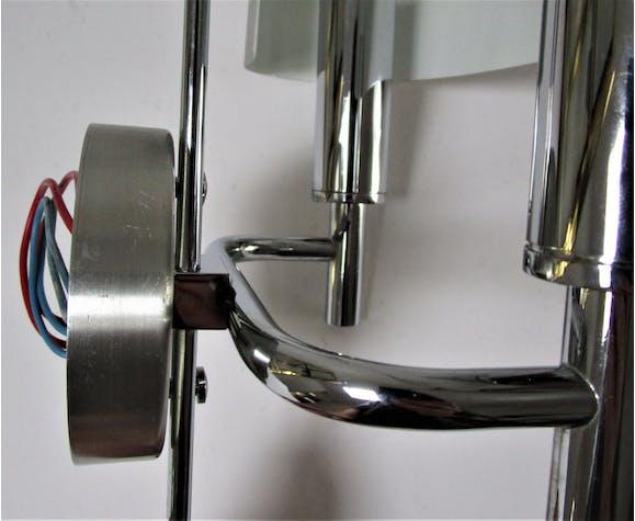 Applique double métal brossé et chrome vintage
