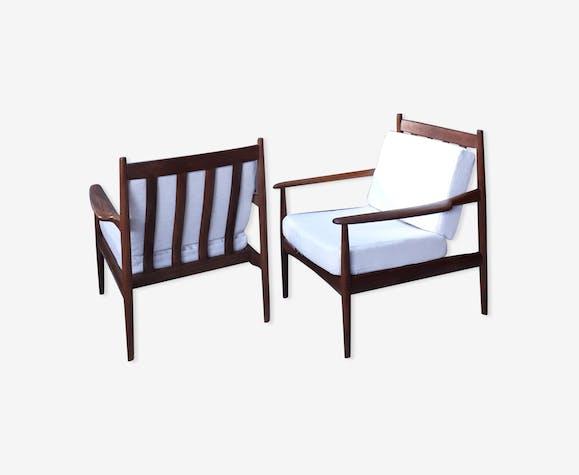 Paire de fauteuils scandinaves des années 60