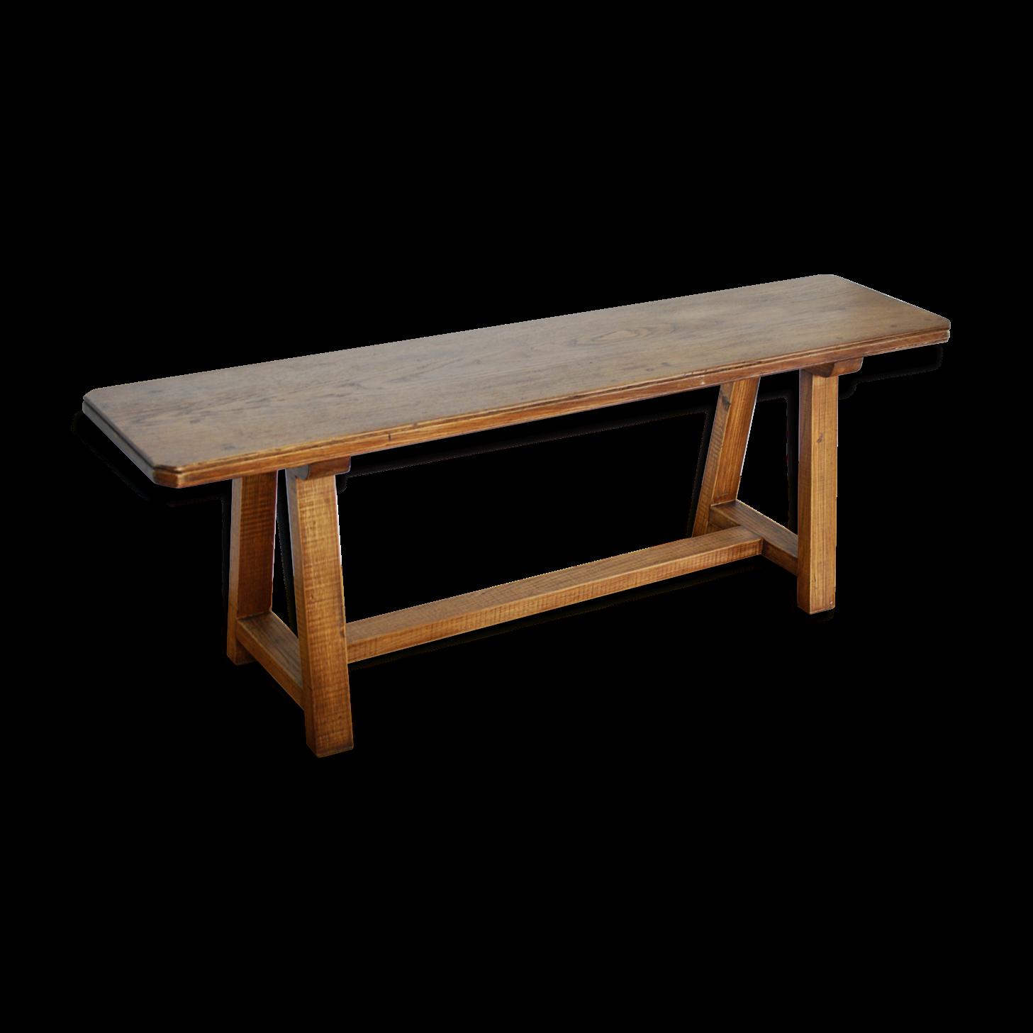 banc vieux bois banc style glise fabriqu a partir de vieux bois centenaire et solidifi avec de. Black Bedroom Furniture Sets. Home Design Ideas