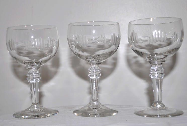 Série de 6 verres à pied vintage
