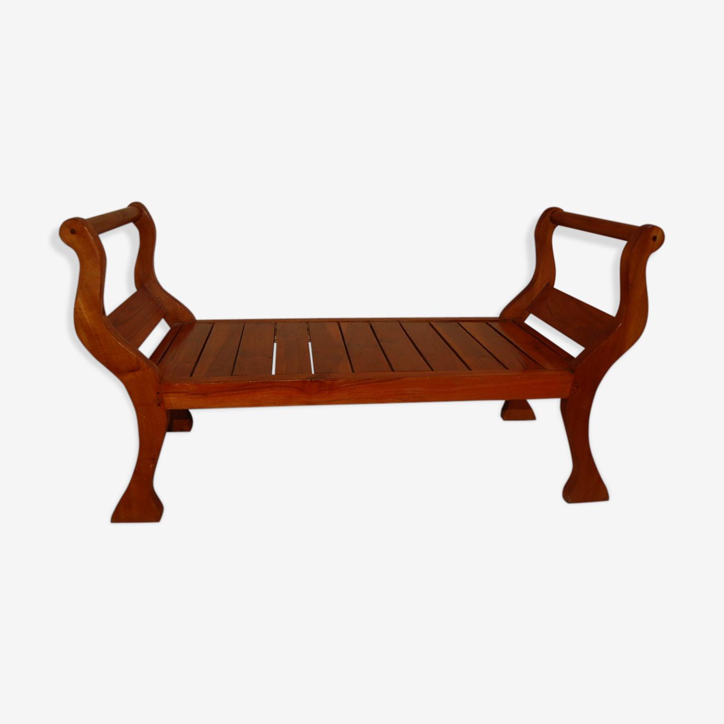 Mahogany colonial bench 19th century.