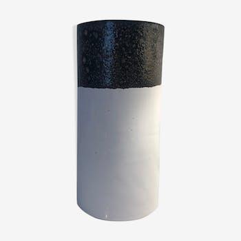 White and black ceramic vase