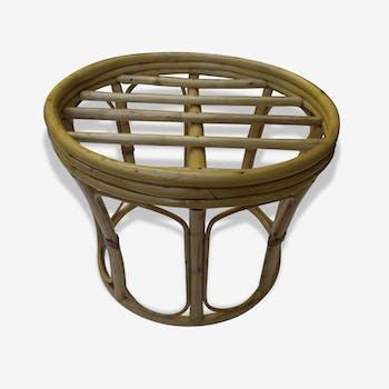 Tabouret vintage en bambou