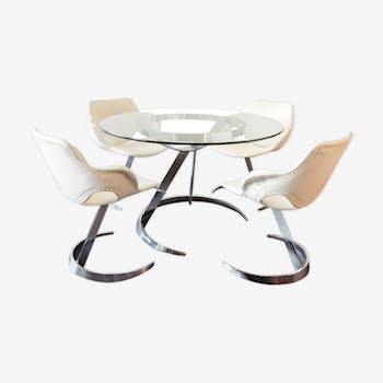 Dining room set by Boris Tabacoff for MMM 1970s