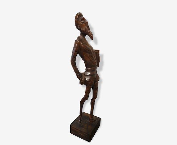 Statue bois don quichotte - wood - classic - 104458