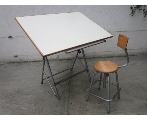 Table A Dessin Et Chaise D Architecte Unic Annees 50 Selency