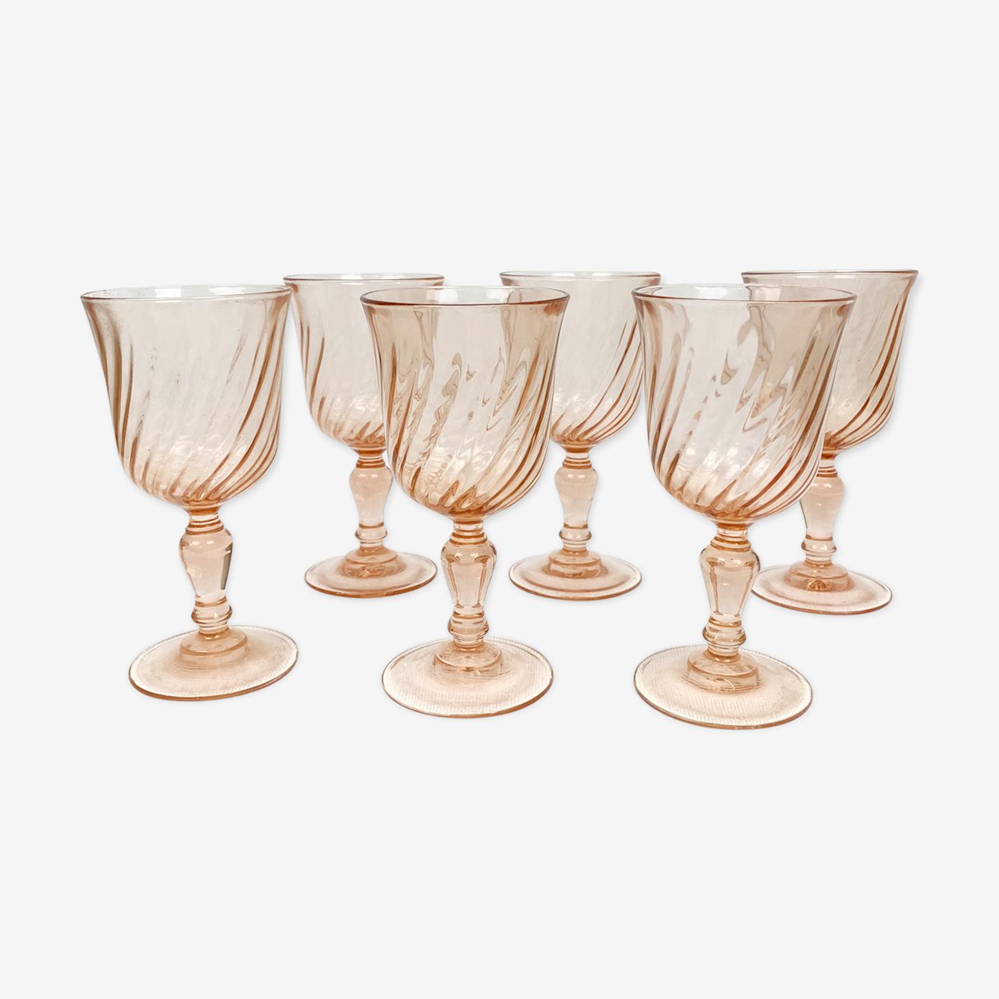 Lot of 6 shot glasses Rosaline Arcoroc walk