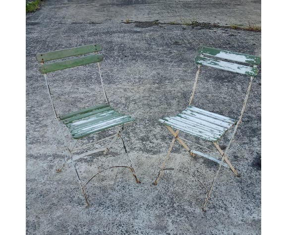 Pair of old garden chairs circa 1900
