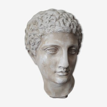 Buste plâtre Apollon